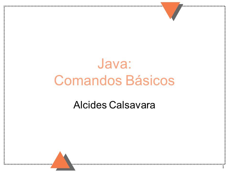 Java: Comandos Básicos