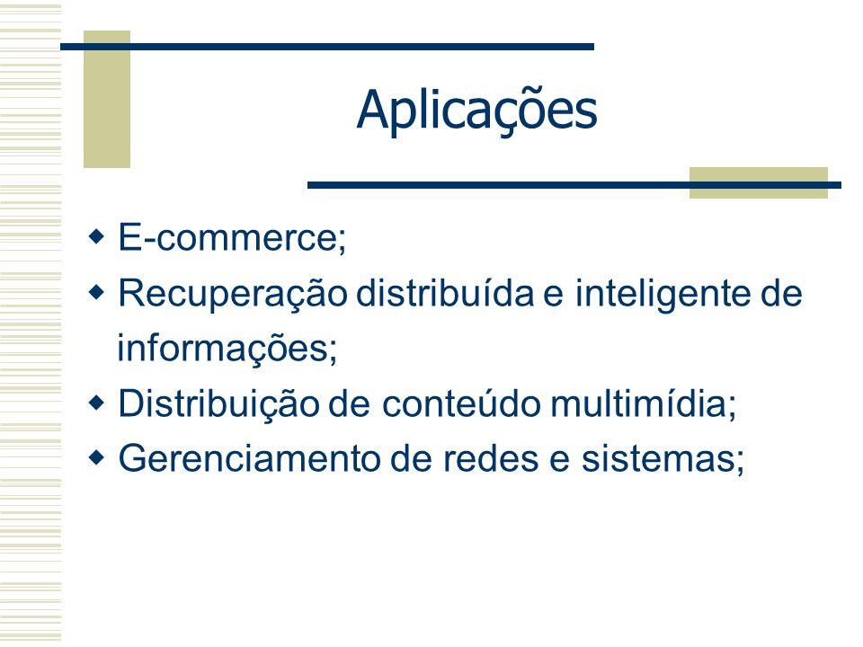 Aplicações E-commerce; Recuperação distribuída e inteligente de