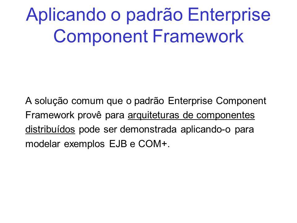 Aplicando o padrão Enterprise Component Framework