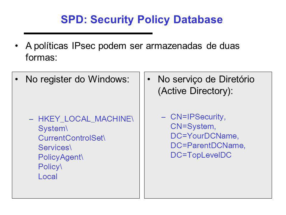 SPD: Security Policy Database