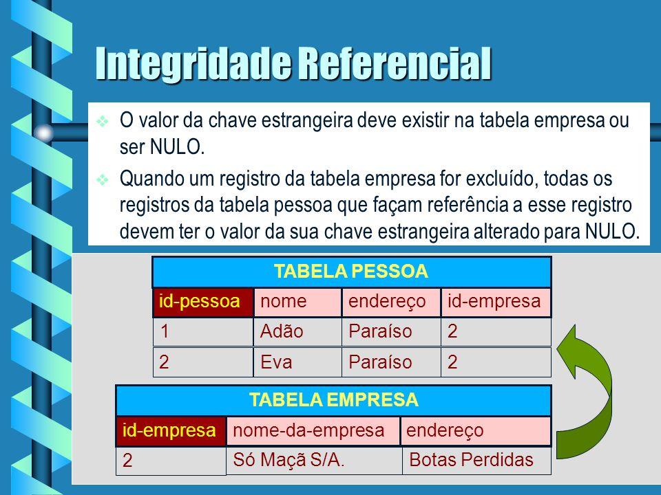 Integridade Referencial .