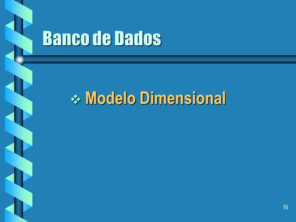 Banco de Dados Modelo Dimensional