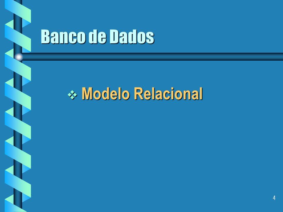 Banco de Dados Modelo Relacional