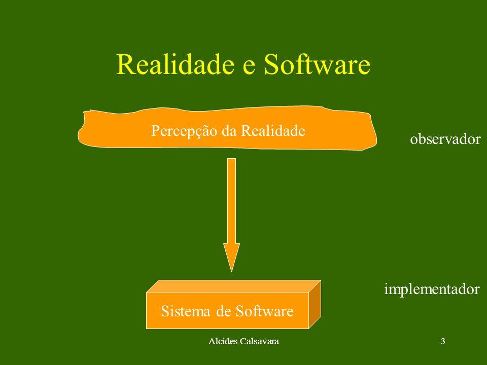 Realidade e Software Percepção da Realidade observador implementador