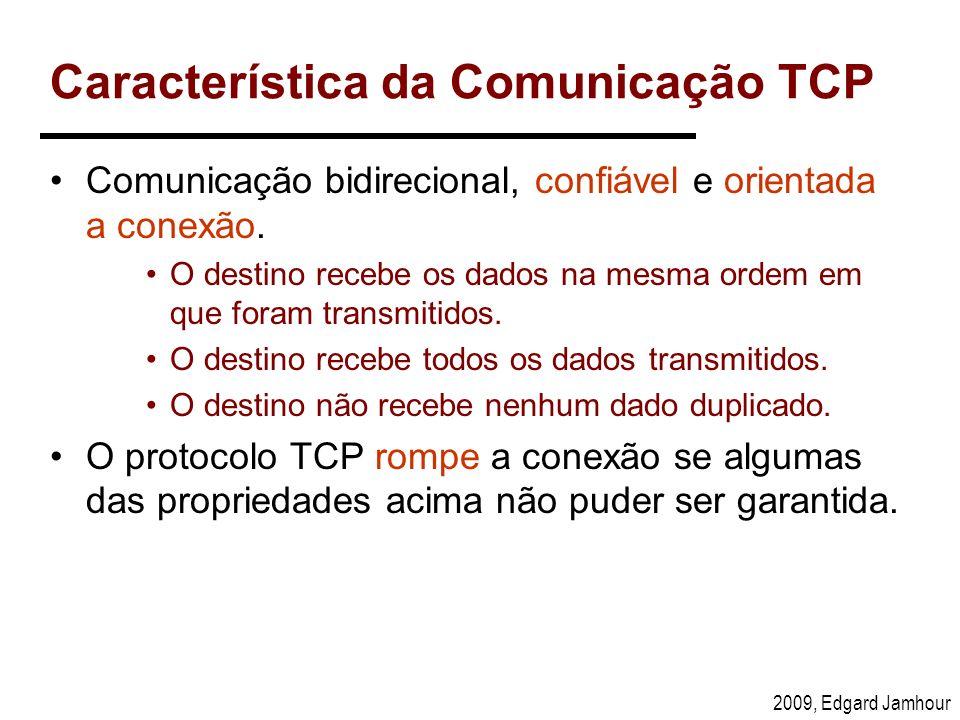 Característica da Comunicação TCP