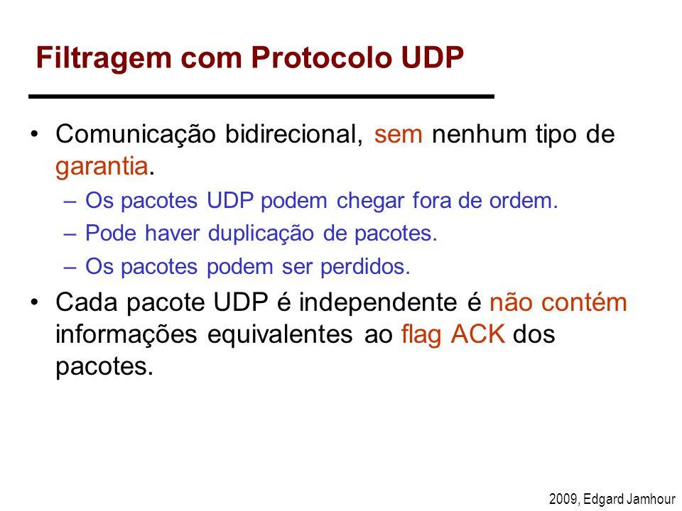Filtragem com Protocolo UDP