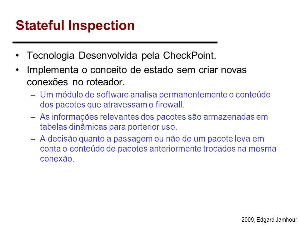Stateful Inspection Tecnologia Desenvolvida pela CheckPoint.