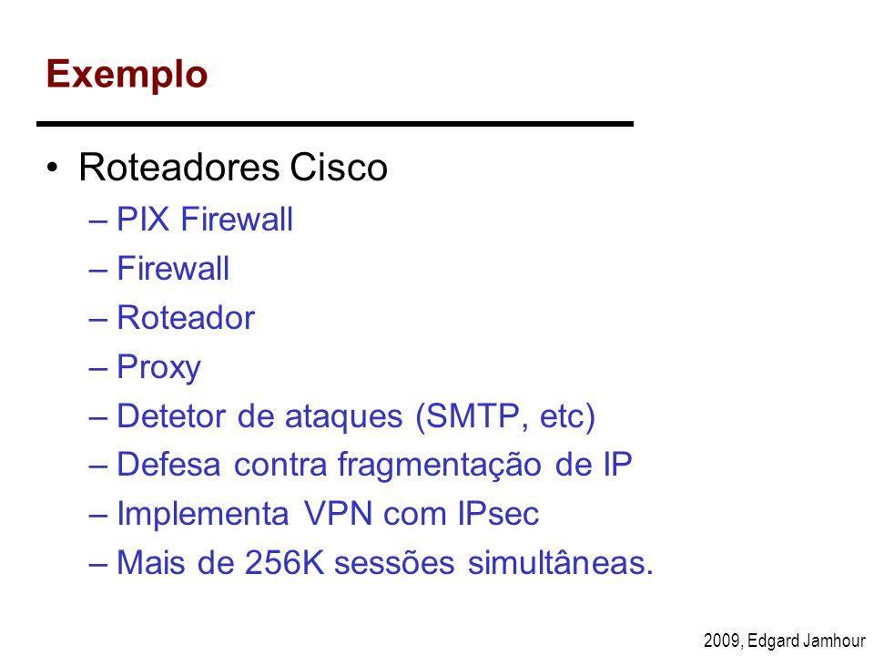 Exemplo Roteadores Cisco PIX Firewall Firewall Roteador Proxy