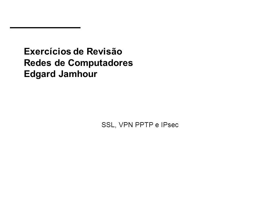 Exercícios de Revisão Redes de Computadores Edgard Jamhour
