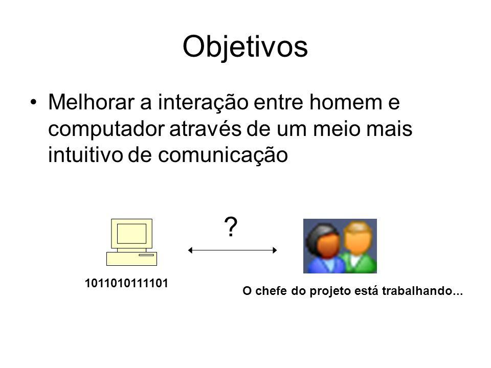 ObjetivosMelhorar a interação entre homem e computador através de um meio mais intuitivo de comunicação.