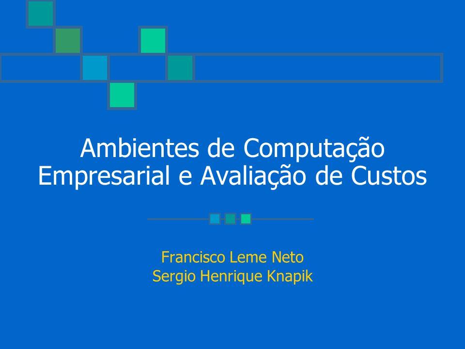 Ambientes de Computação Empresarial e Avaliação de Custos