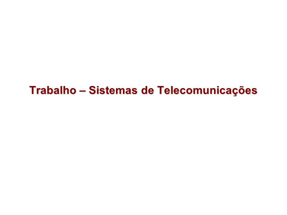Trabalho – Sistemas de Telecomunicações