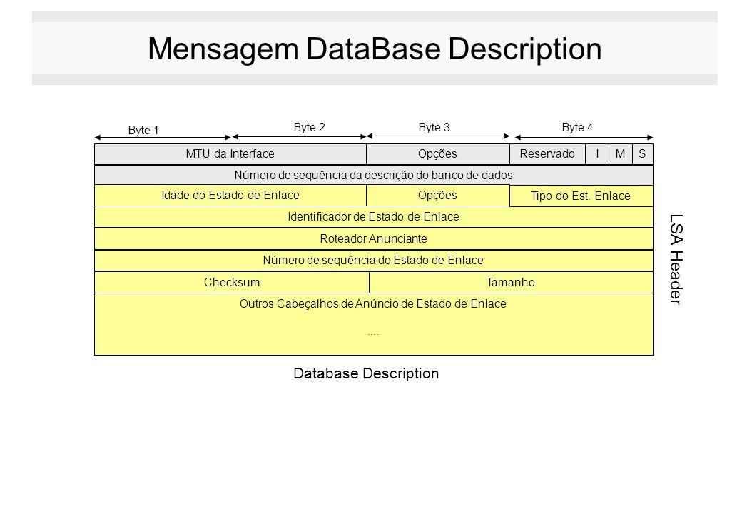 Mensagem DataBase Description