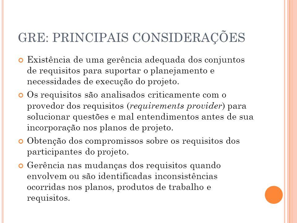 GRE: PRINCIPAIS CONSIDERAÇÕES