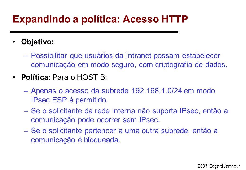 Expandindo a política: Acesso HTTP