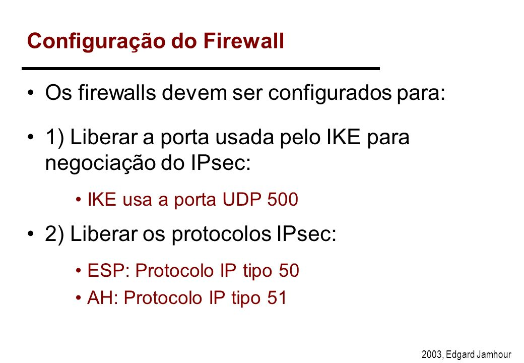 Configuração do Firewall