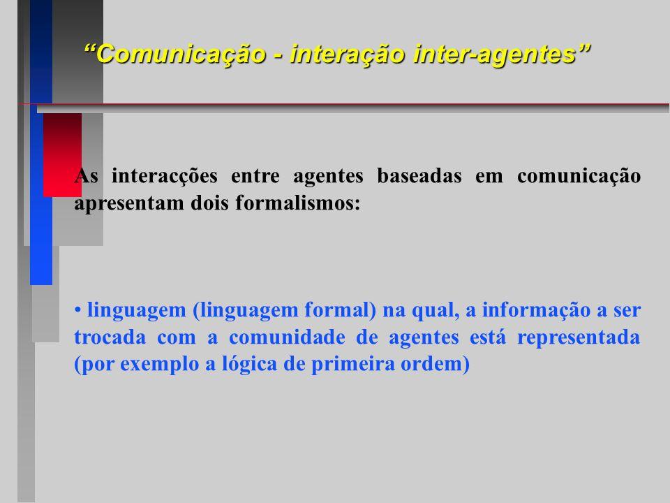 Comunicação - interação inter-agentes