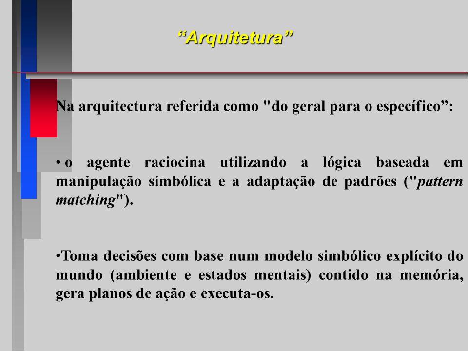 Arquitetura Na arquitectura referida como do geral para o específico :