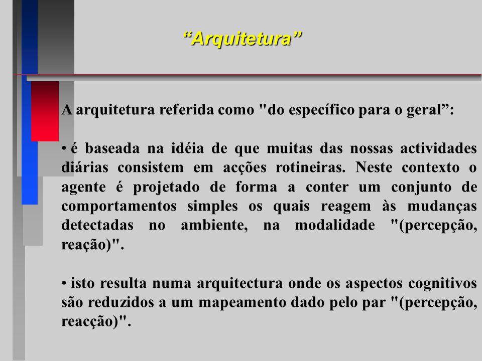 Arquitetura A arquitetura referida como do específico para o geral :