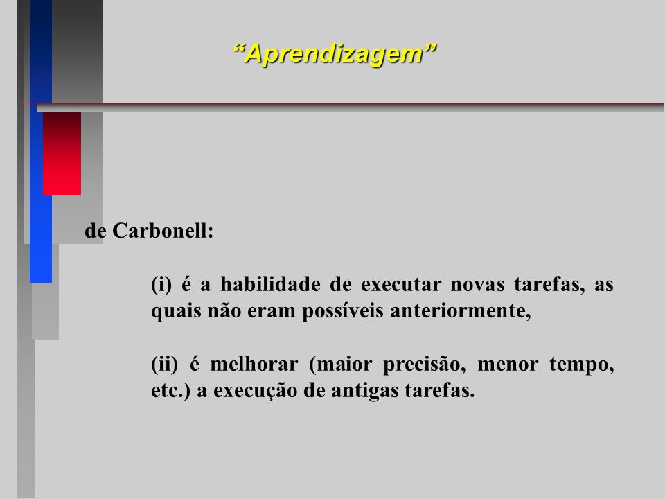 Aprendizagem de Carbonell: