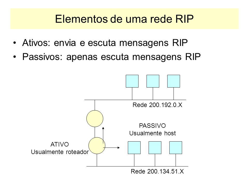 Elementos de uma rede RIP