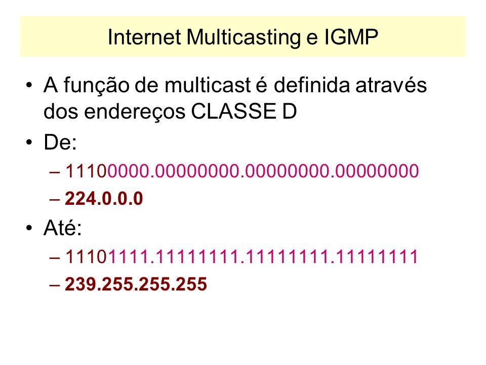 Internet Multicasting e IGMP