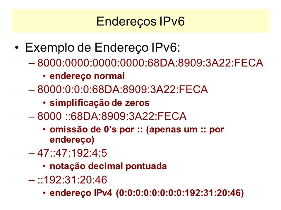 Exemplo de Endereço IPv6: