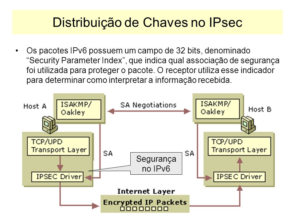 Distribuição de Chaves no IPsec