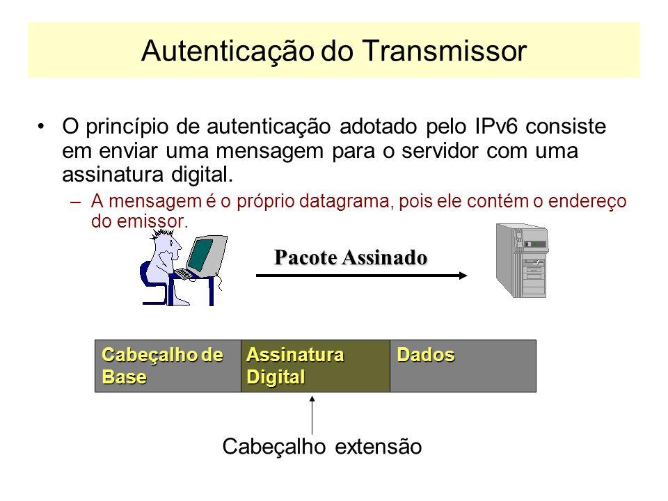 Autenticação do Transmissor