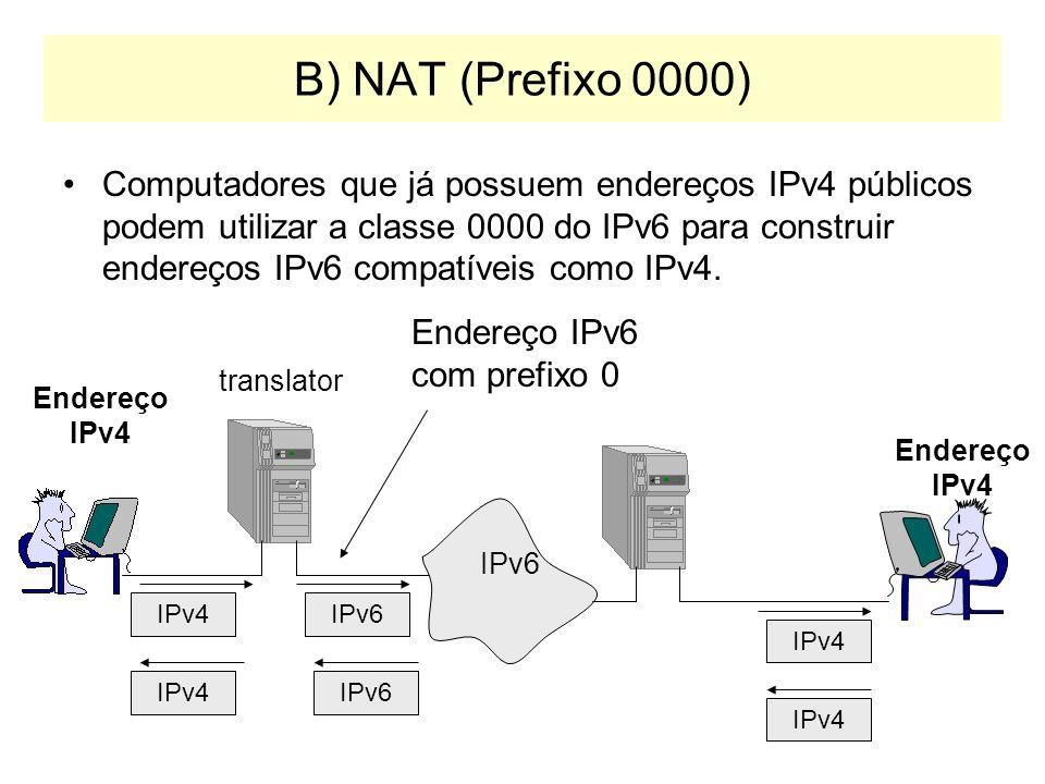 B) NAT (Prefixo 0000)