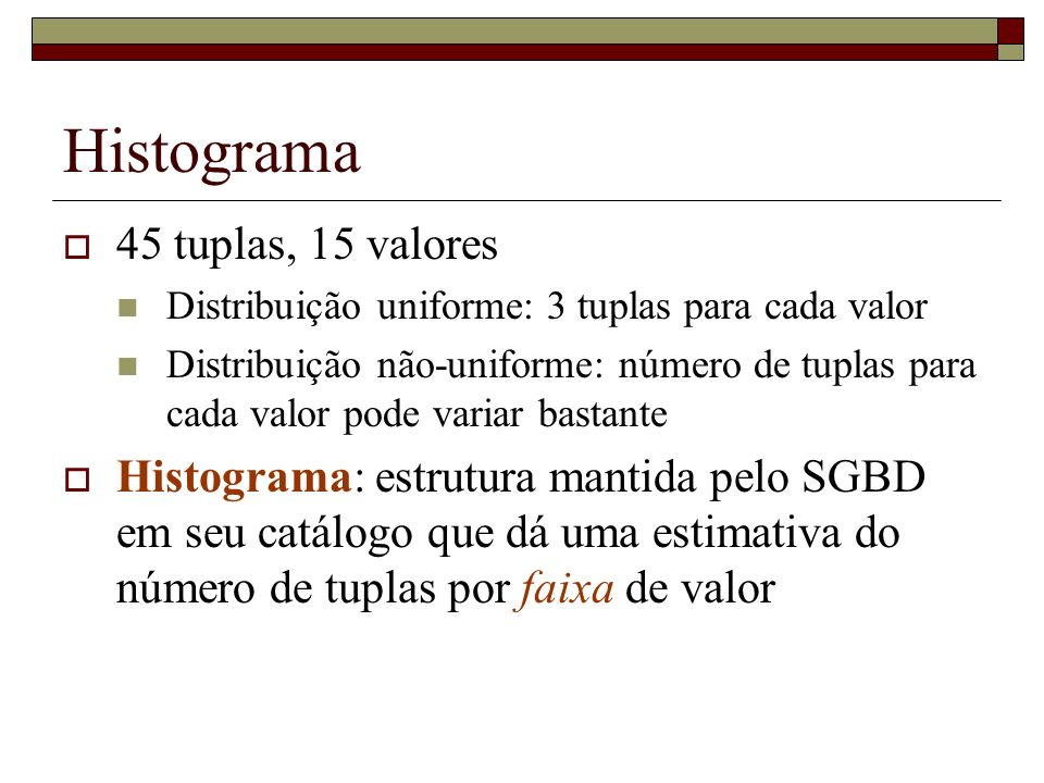 Histograma 45 tuplas, 15 valores