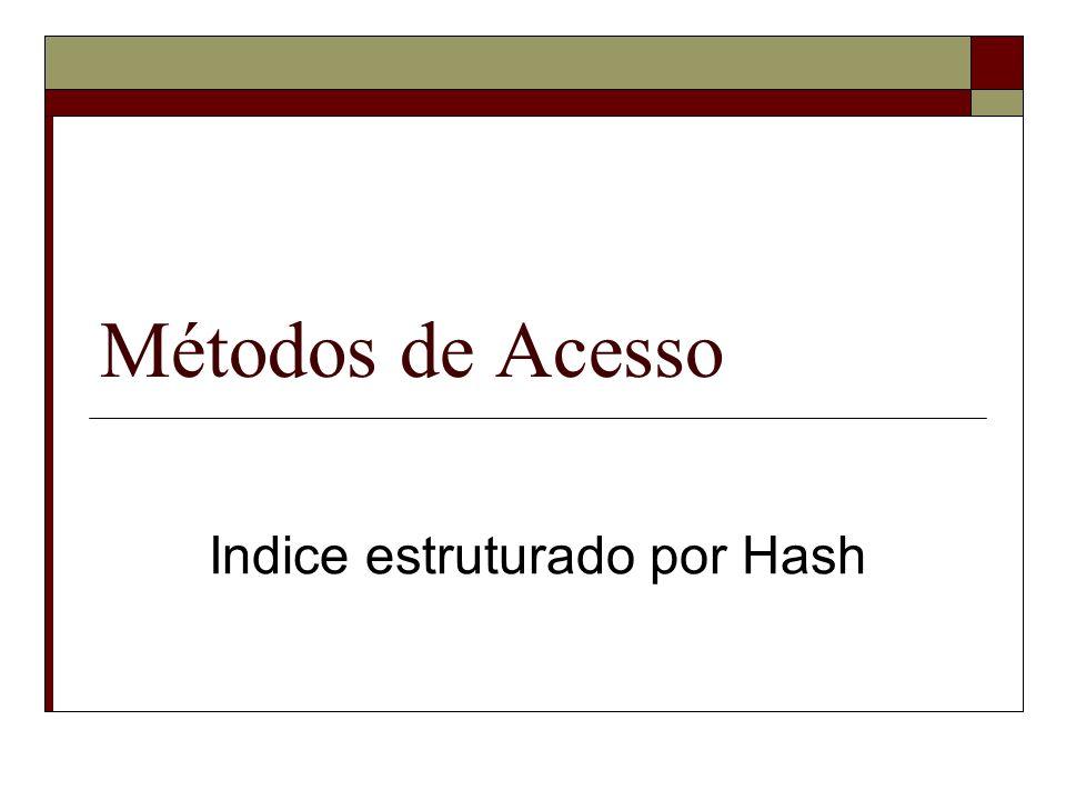 Indice estruturado por Hash