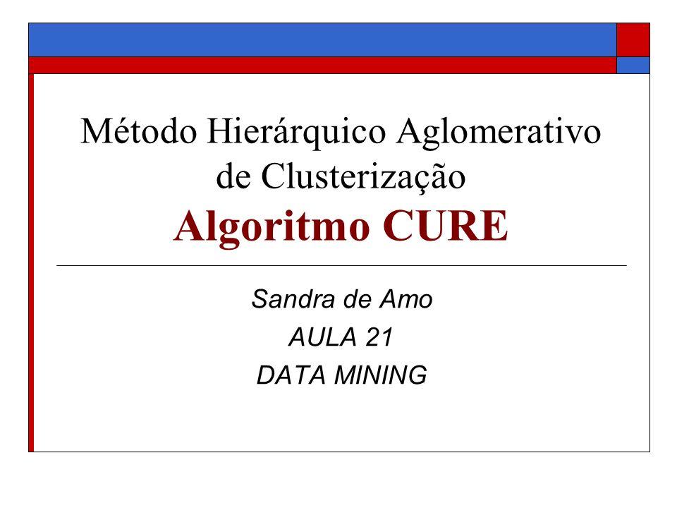 Método Hierárquico Aglomerativo de Clusterização Algoritmo CURE