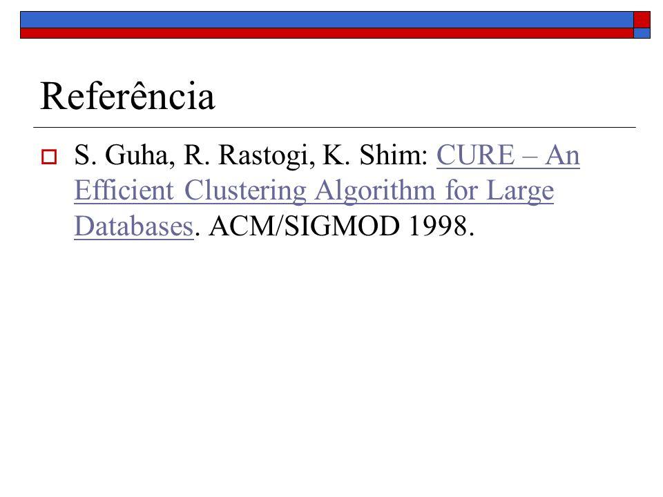 Referência S. Guha, R. Rastogi, K.