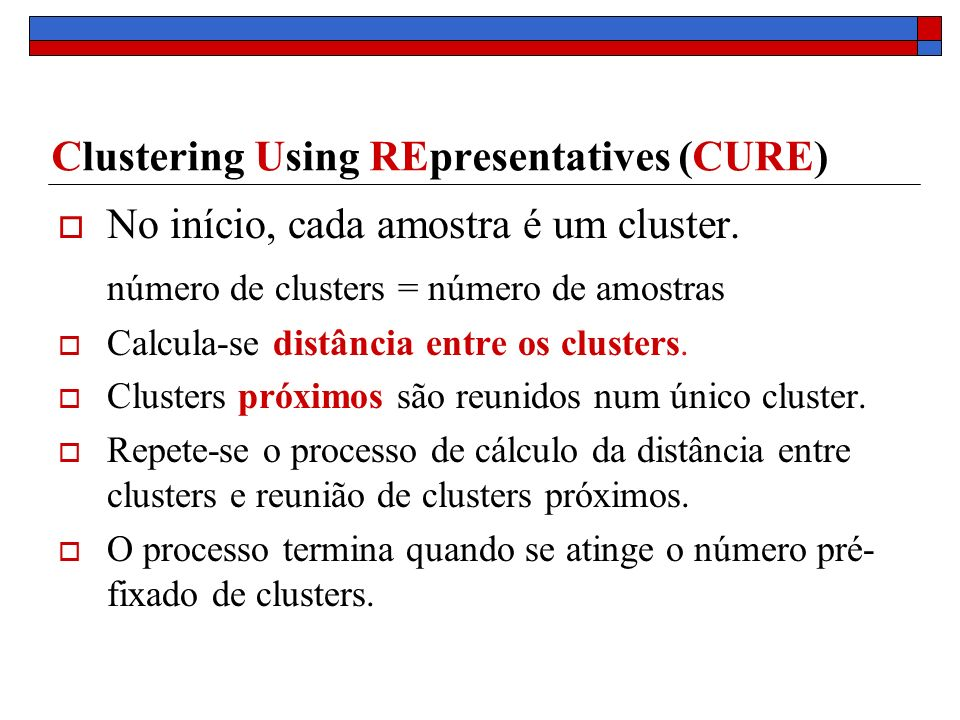 Clustering Using REpresentatives (CURE)