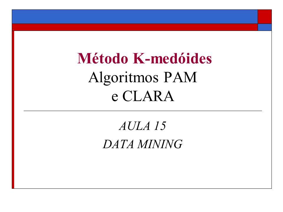Método K-medóides Algoritmos PAM e CLARA