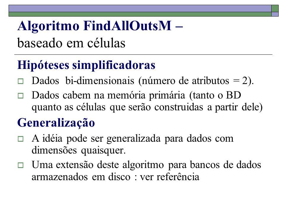 Algoritmo FindAllOutsM – baseado em células
