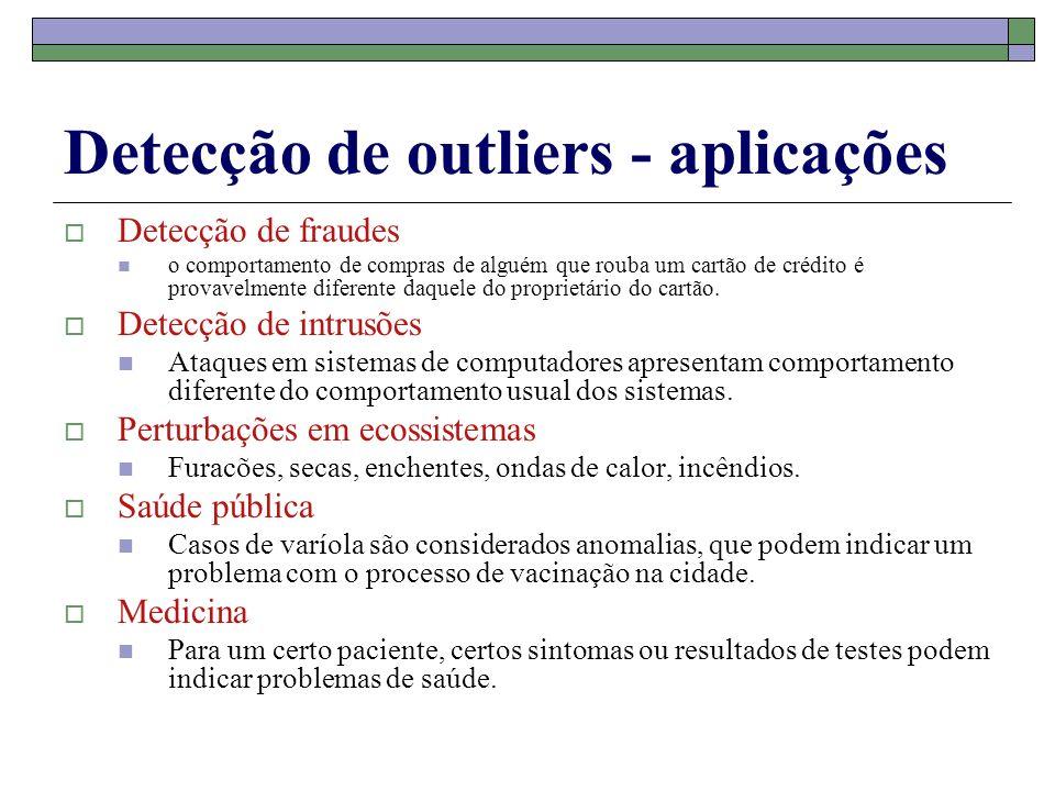Detecção de outliers - aplicações