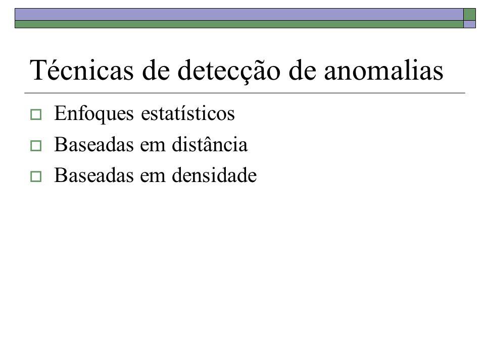 Técnicas de detecção de anomalias