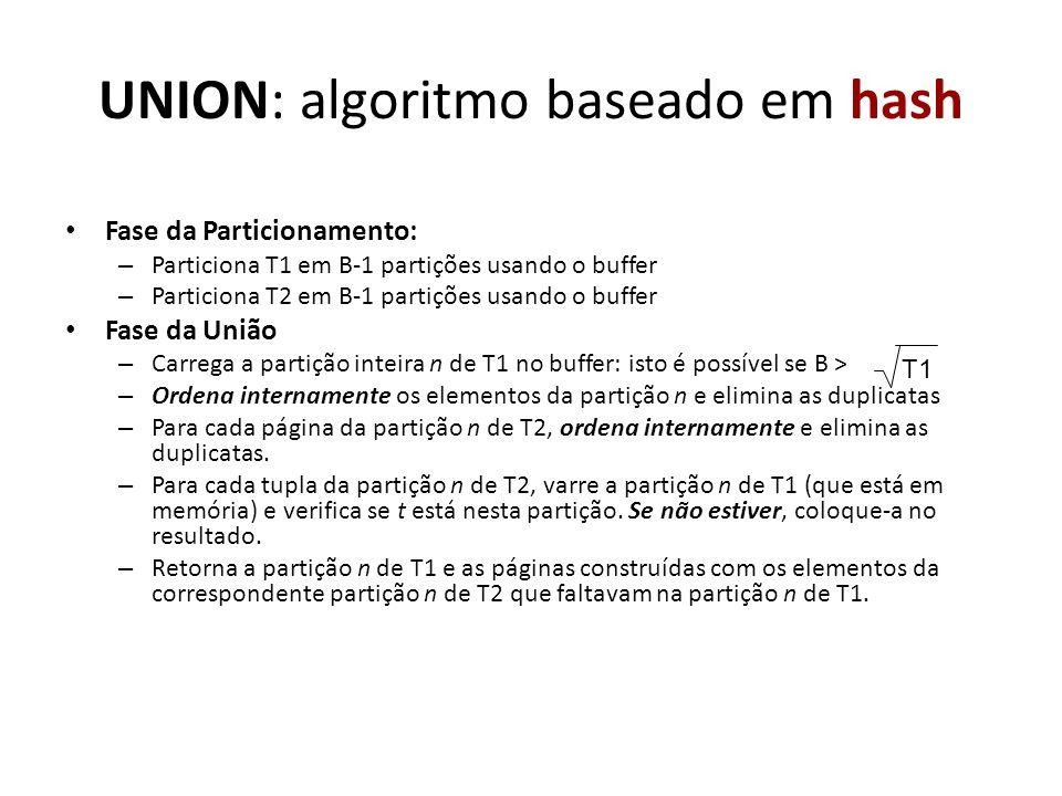 UNION: algoritmo baseado em hash