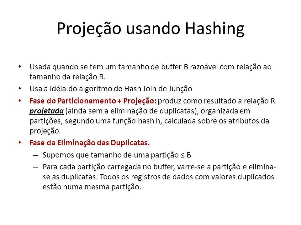 Projeção usando Hashing