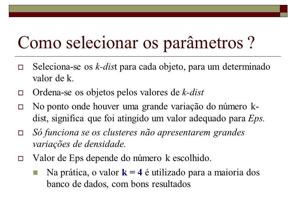 Como selecionar os parâmetros
