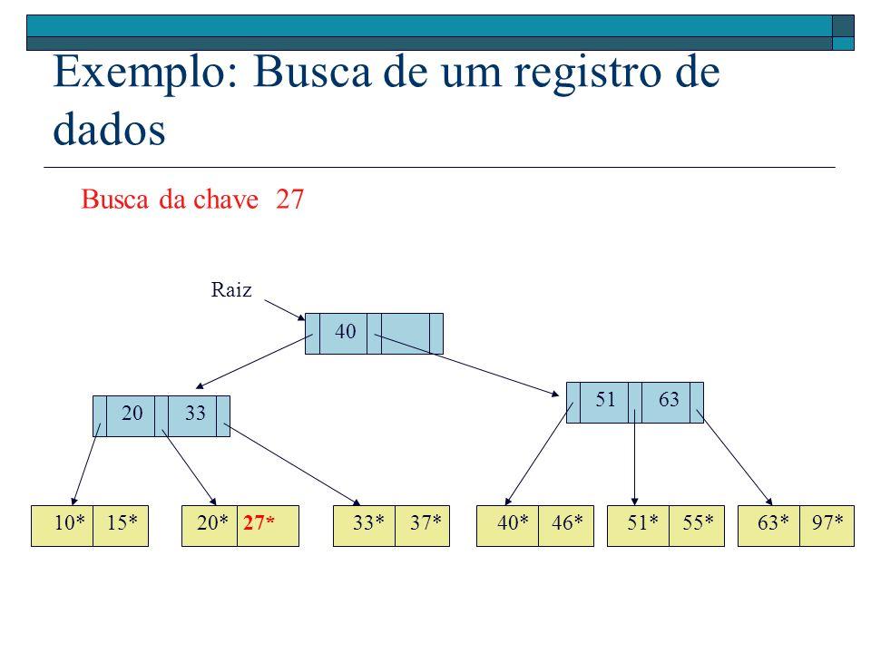 Exemplo: Busca de um registro de dados