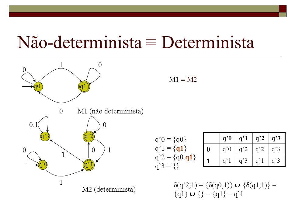 Não-determinista ≡ Determinista