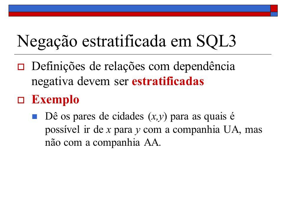 Negação estratificada em SQL3