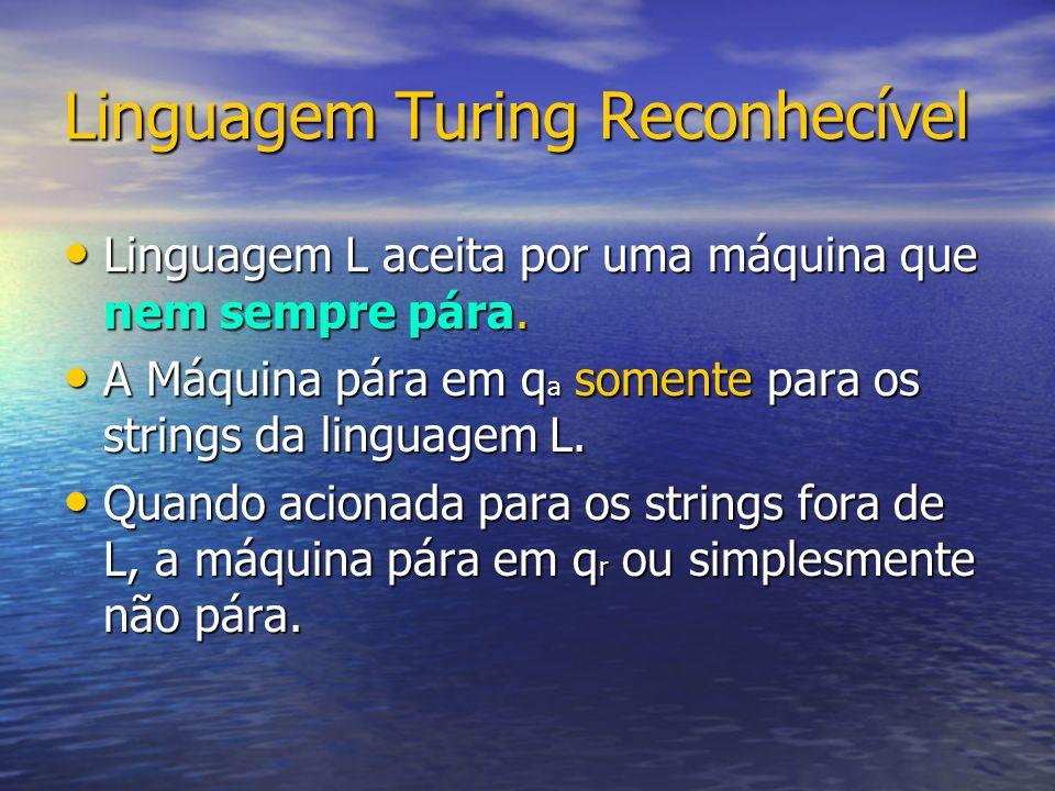 Linguagem Turing Reconhecível