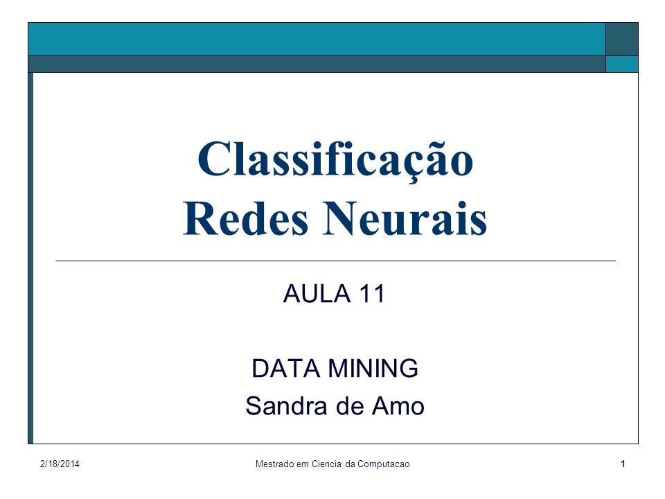 Classificação Redes Neurais