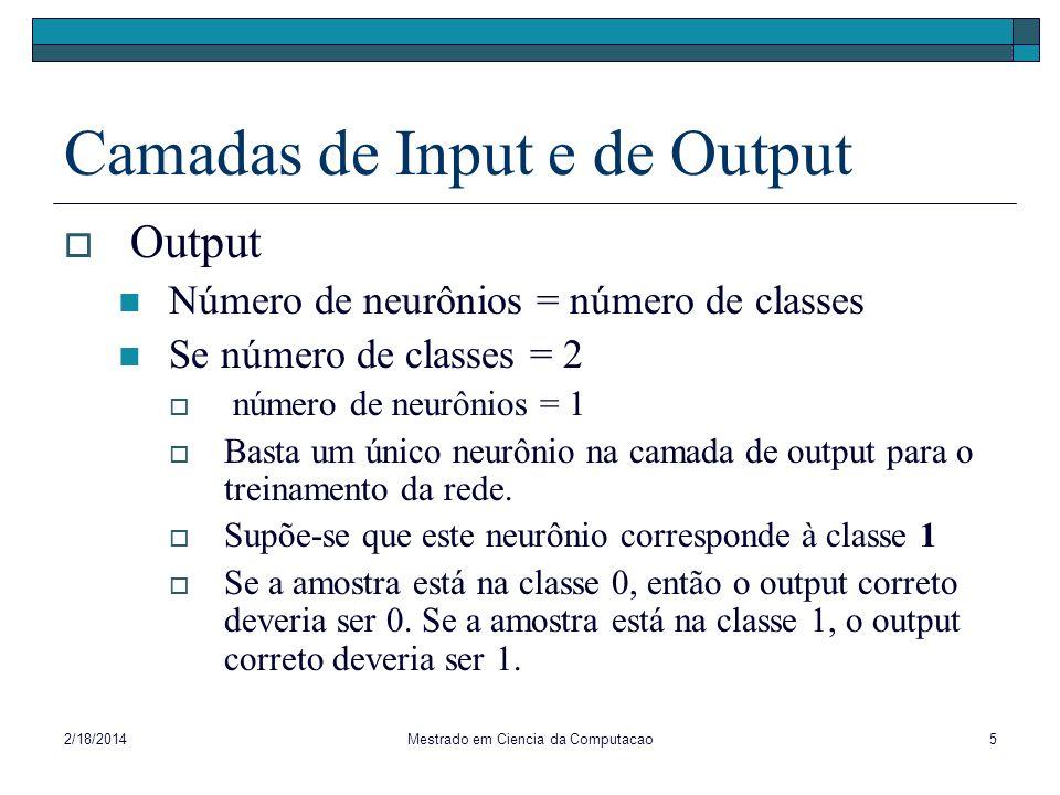 Camadas de Input e de Output