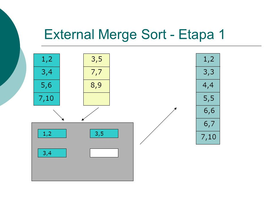 External Merge Sort - Etapa 1