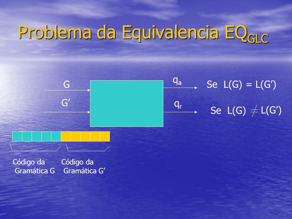 Problema da Equivalencia EQGLC